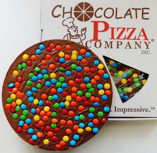 Colorful Candy Topped Chocolate Pizza