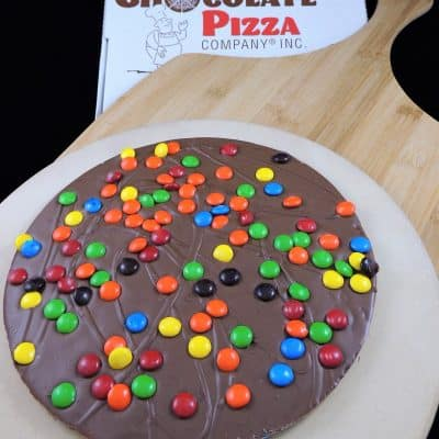 colorful candy chocolate pizza