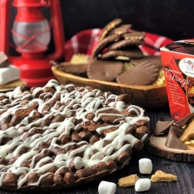 combo campfire smore chocolate pizza and wings