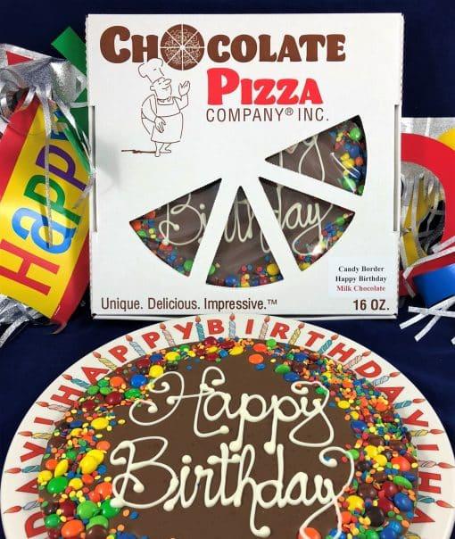 Happy Birthday - milk plate candy border