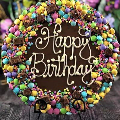 pastel de chocolat pizza happy birthday pastel candies