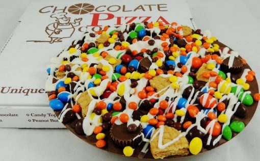 peanut butter avalanche chocolate pizza