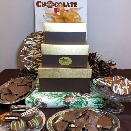 3-Tier Chocolate Tower Premium - Office - Gold-Brown