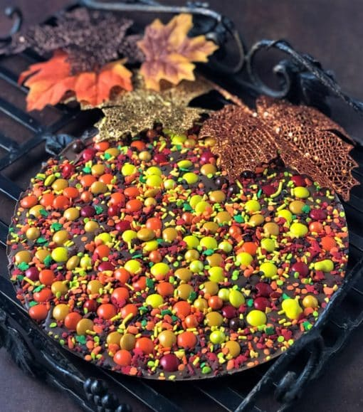Autumn colors mark this Chocolate Pizza