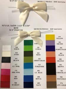color chart for bows