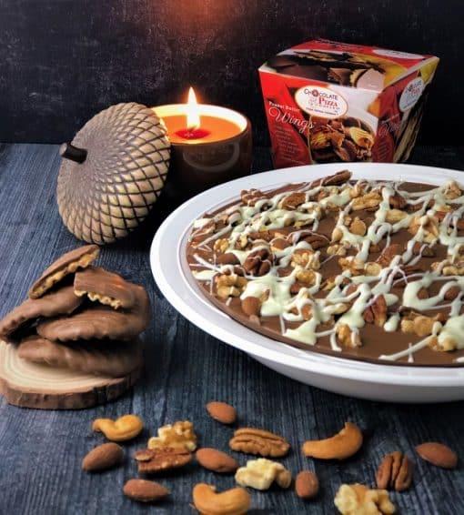 pecans almonds walnuts on Chocolate Pizza