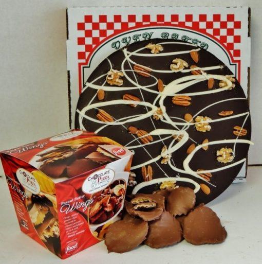 large combo nut chocolate pizza