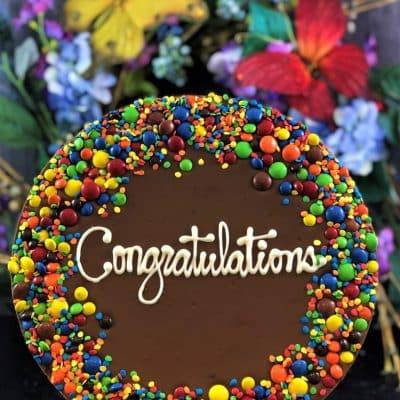 congratulations chocolate pizza candy border
