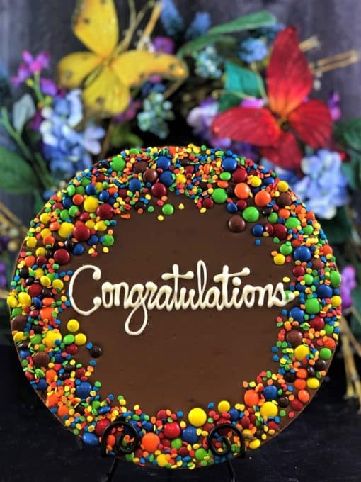 congratulations chocolate pizza candy border