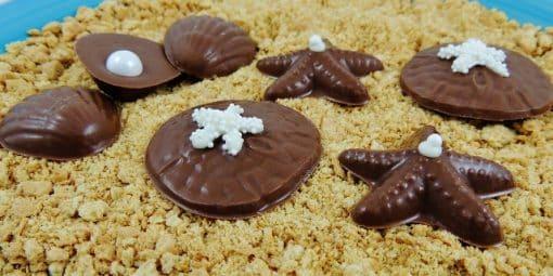sea shell favors chocolate beach