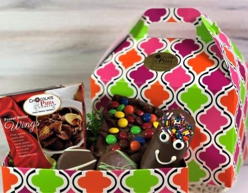 feeling better gift basket of chocolates