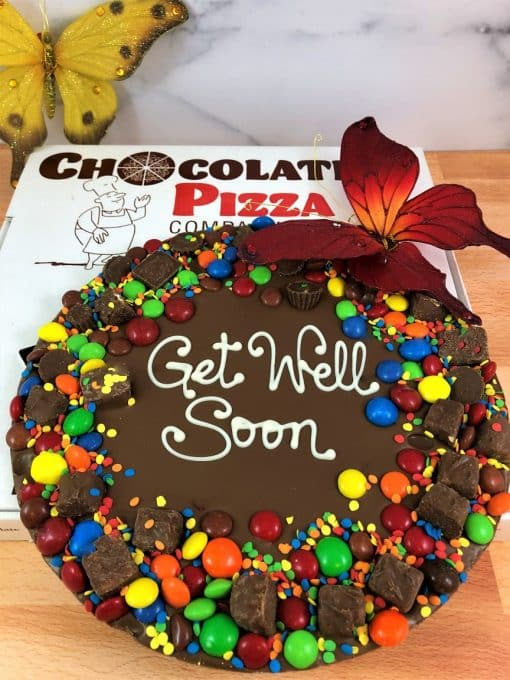 get well soon chocolate with candy border