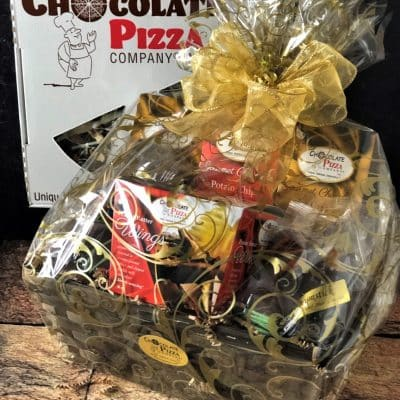 gift basket with best chocolate ever
