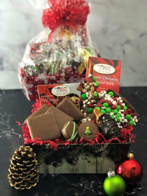 snowflake gift basket