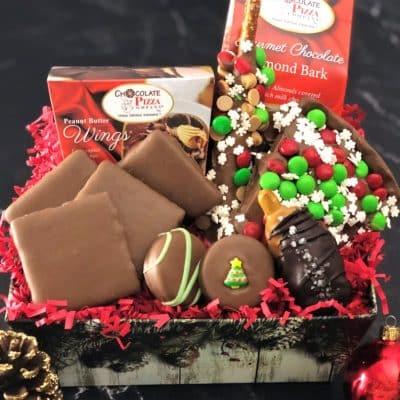 snowflake holiday gift basket