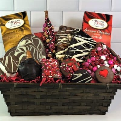All my love chocolate gift basket Valentines