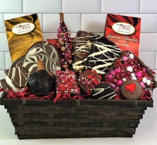 All my love chocolate gift basket Valentines