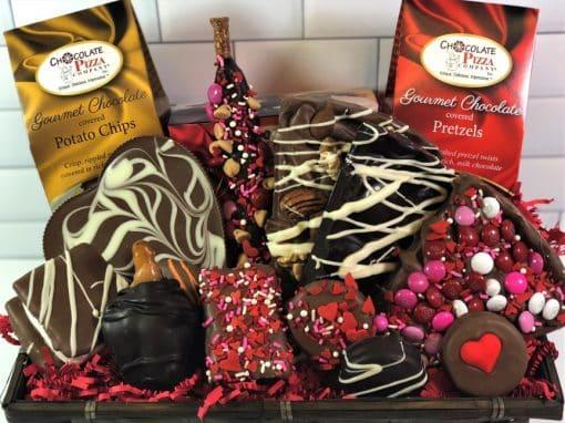 Valentines gift basket for her