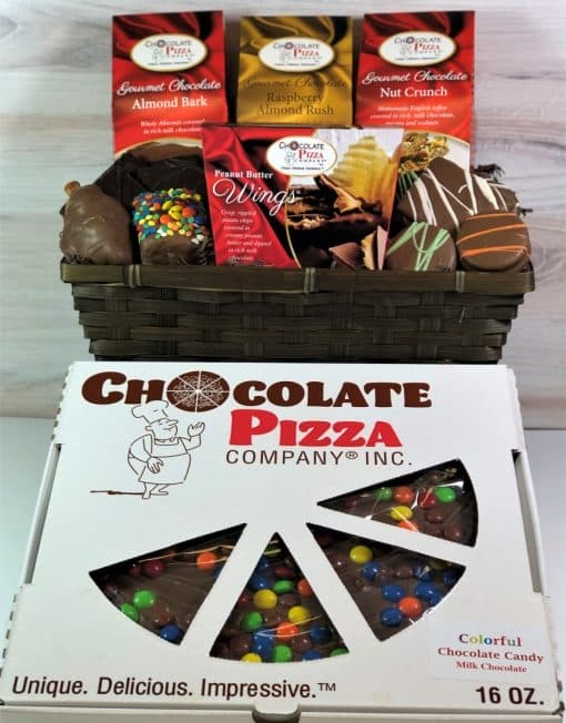 best chocolate ever gift basket and chocolate pizza