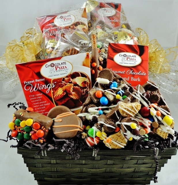 premium chocolate basket & Premium Chocolate Basket | handcrafted candy avalanche slices