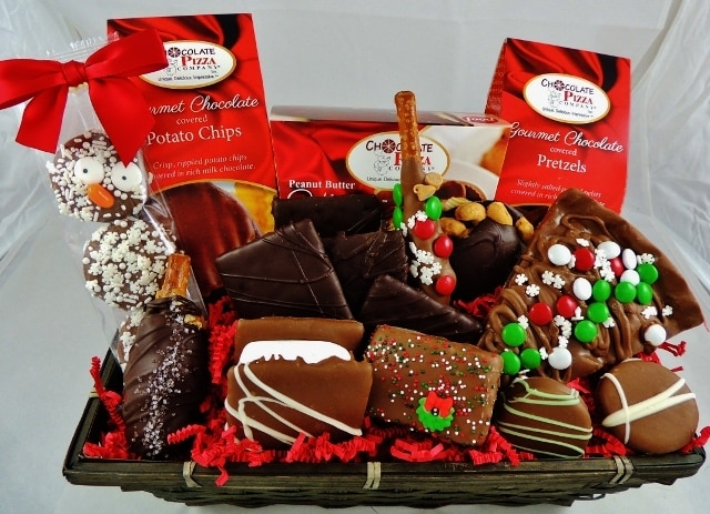 blizzard & Blizzard Chocolate Gift Basket | holiday gift basket ideas that impress