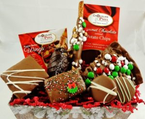 Unique Gift For Christmas.Christmas Chocolate Gift Baskets Chocolate Pizza
