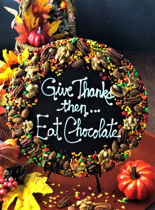 give thanks then eat chocolate