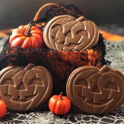 chocolate pumpkin Halloween jack o lantern