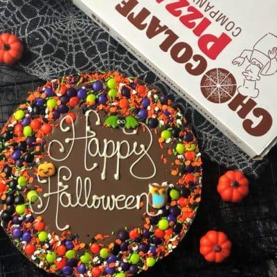 Happy Halloween Chocolate Pizza