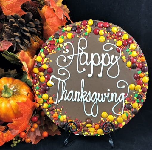 thanksgiving chocolate pizza