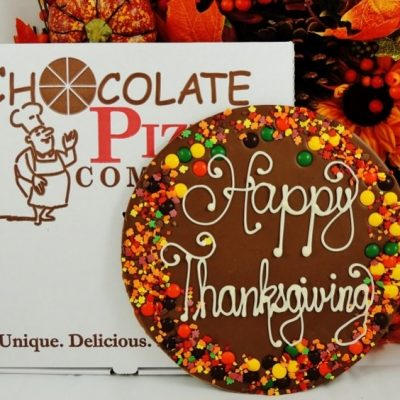 Happy Thanksgiving Chocolate Pizza