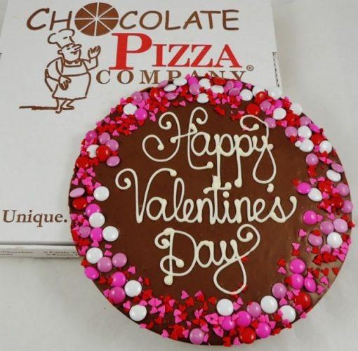 Valentines day chocolate pizza