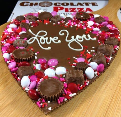 heart chocolate pizza avalanche border