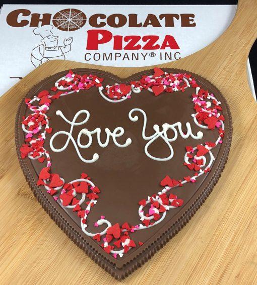 Heart Chocolate Pizza Love You