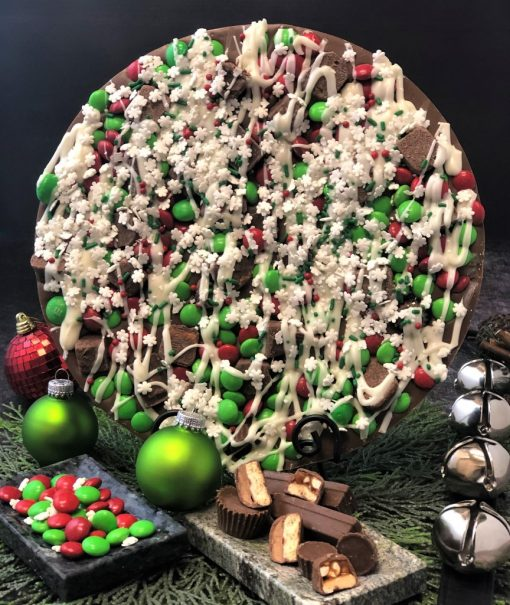 Holiday avalanche Chocolate Pizza