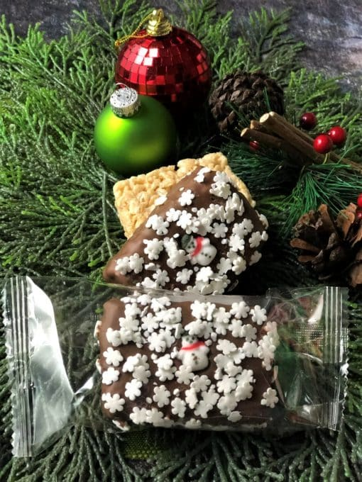 rice crispy square decorated holiday