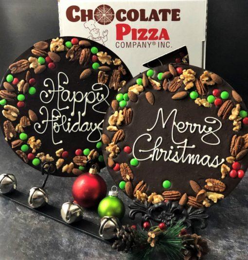 Holly berry design Christmas chocolate