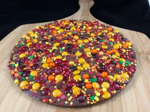 fall colors chocolate pizza