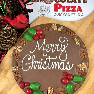 holly berry chocolate pizza