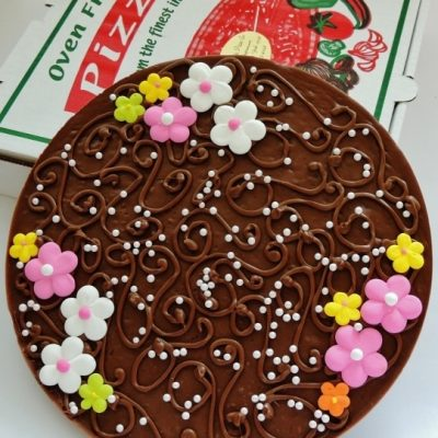 just for her chocolate pizza