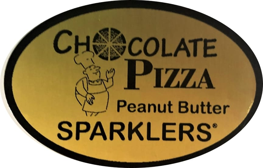 Peanut Butter Sparklers label in gold and black