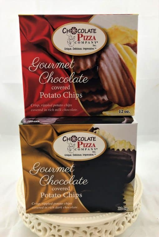 chocolate covered potato chips large