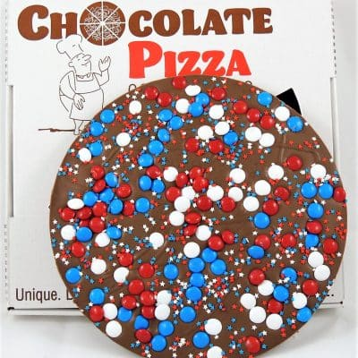 fourth of July chocolate pizza