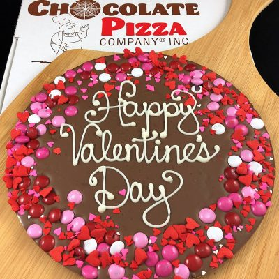 happy valentines day Chocolate Pizza