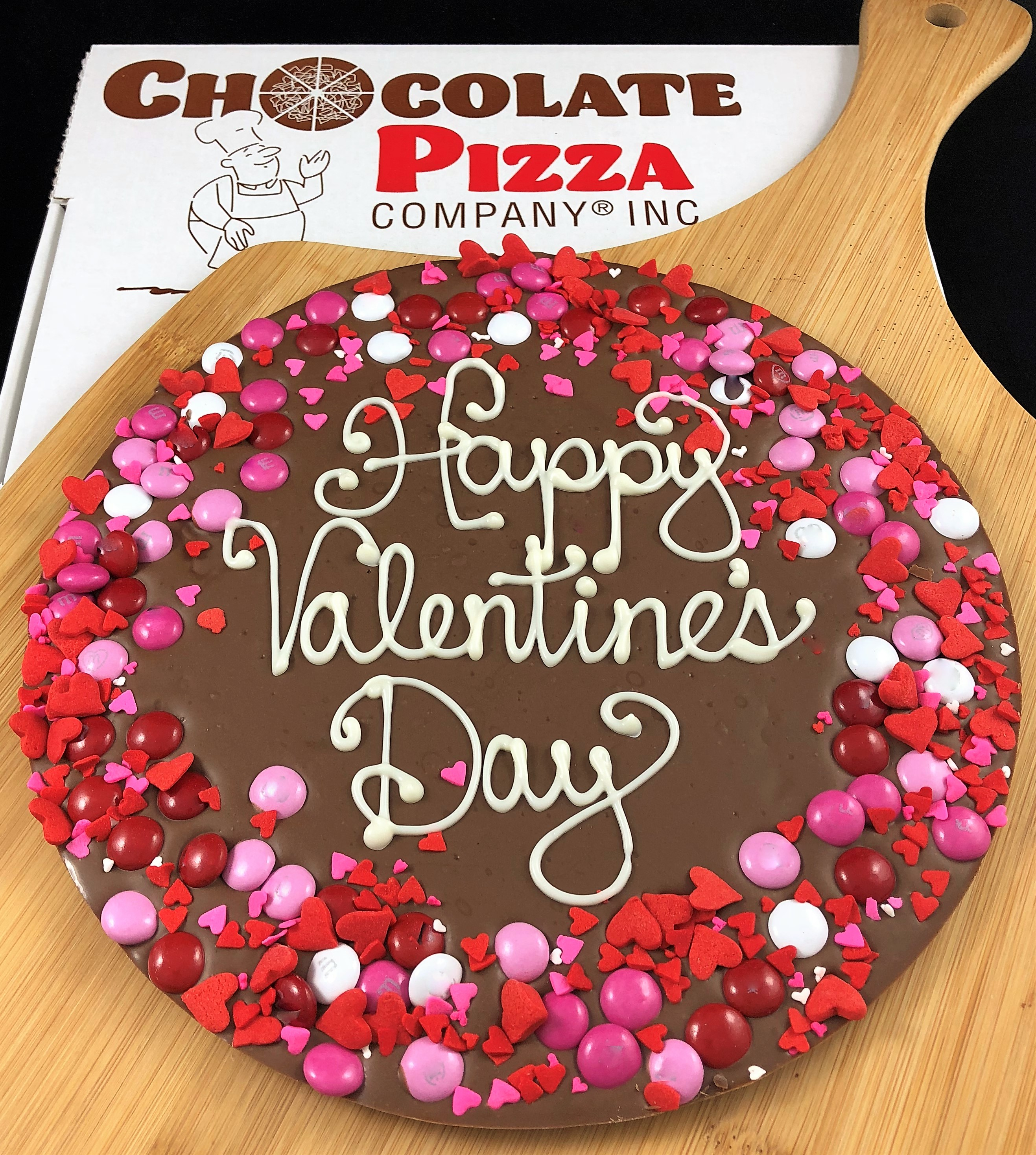 Valentines Day Chocolate Pizza Choice Of Message Candy Border