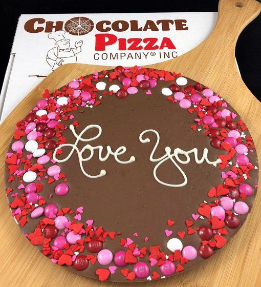 Love You Chocolate Pizza