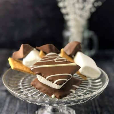 smore treat on glass dish