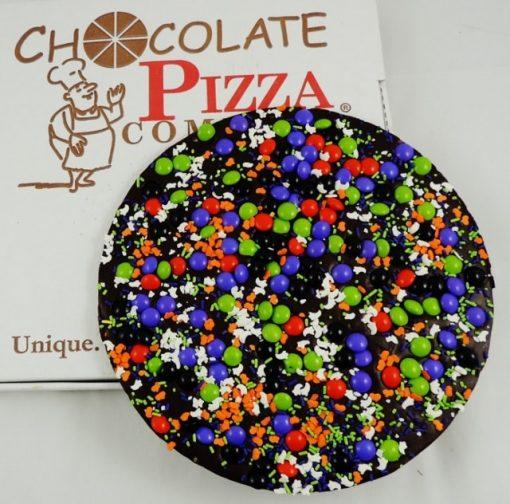 dark chocolate pizza halloween