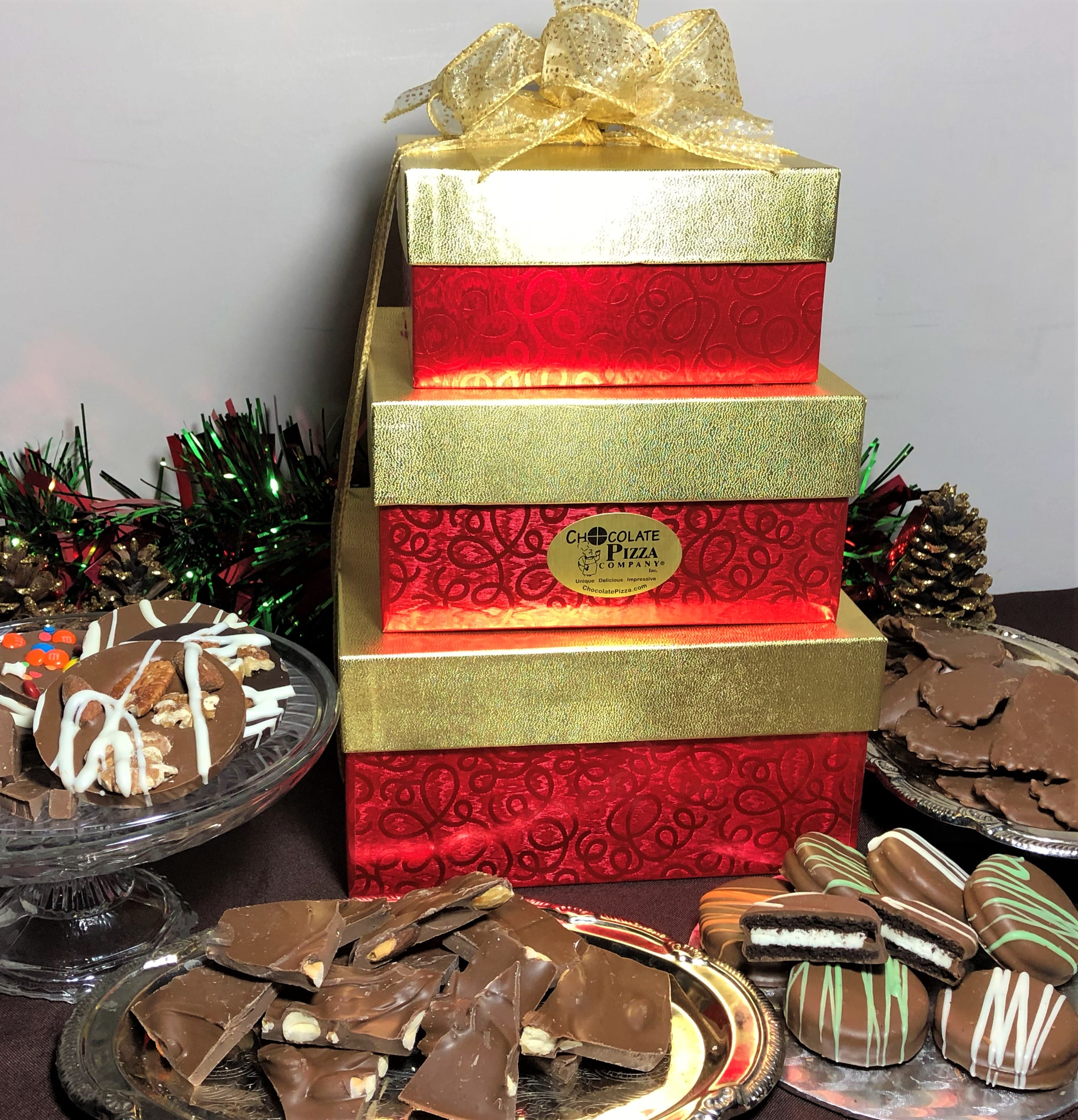 Office Gifts   3 Tier Chocolate Tower, your choice of box design