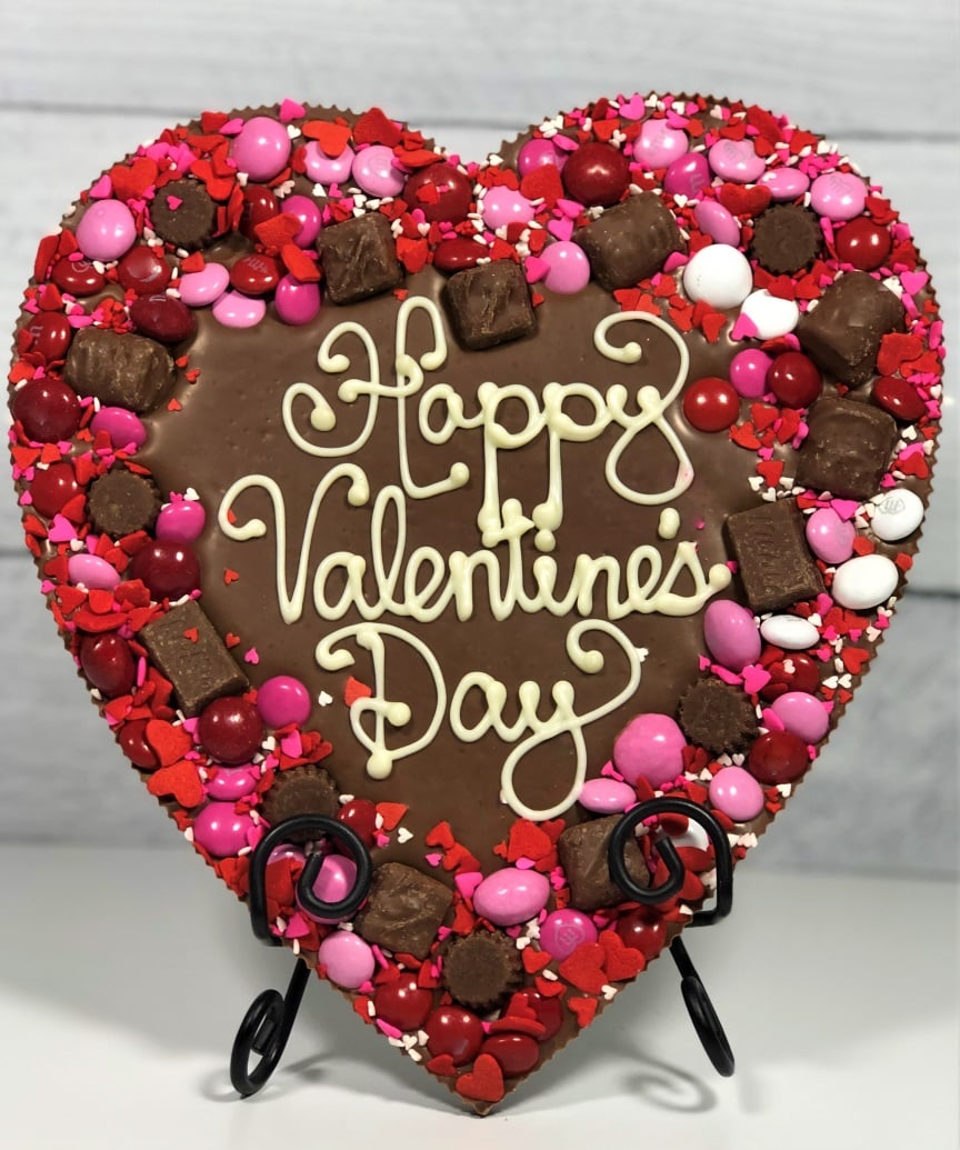 To The Moon Chocolate Pizza Valentine S Day Chocolate